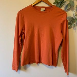 L.L. Bean Orange Long Sleeve Top